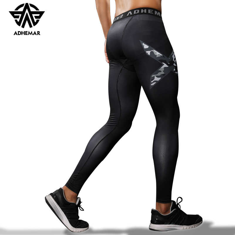 1dd9f47c7c Adhemar men's running tights compression pants for exercise quick-drying  legging for men