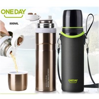 ONEDAY 750ml Thermos Cup Thermo Tumbler Vacuum Flask Insulated Car Coffee Mug Thermal Bottle For Water