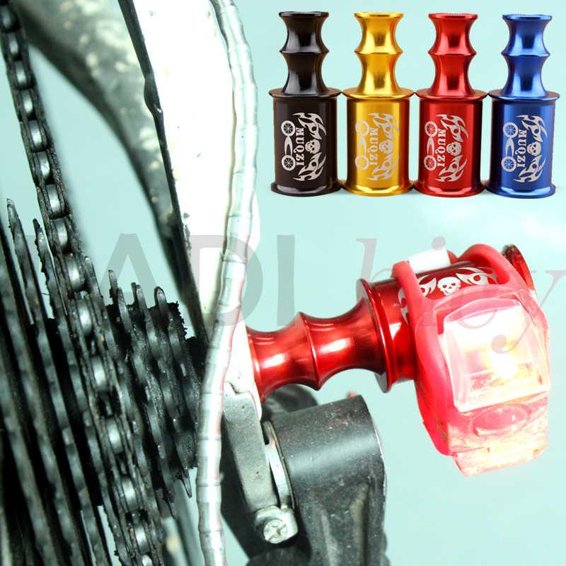 MUQZI support de lampe roue frontale, prolongateur de bicyclette phare cyclisme à dégagement rapide alliage Protection du dérailleur arrière