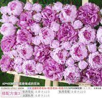 10 Unids/lote 50 cm * 50 cm de seda Artificial Hydrangea Púrpura Lila violeta flor de pared decoración de la boda home party decor flores de la pared