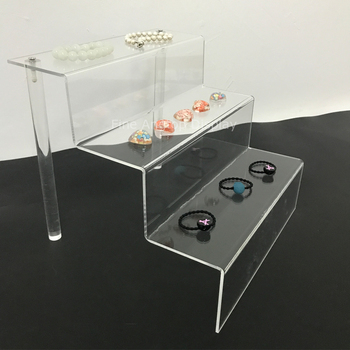 3-Tier Jewelry Bracelet Watch Bangle Display Stand Showcase Acrylic Head Rope Stand Rack Plexiglass Holder 250mm W 5 tier desktop acrylic step display stand holder for small toys