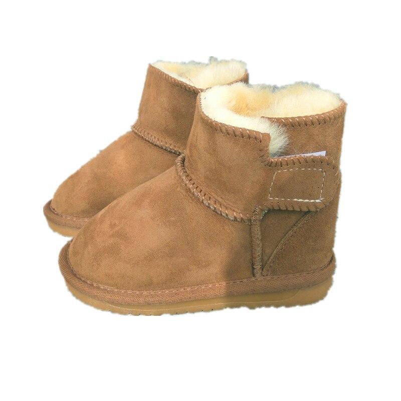 87c608e90 Niños zapatos niñas niños botas de nieve bebé Australia botas de piel de  oveja impermeables bebé invierno piel más botas cálidas de terciopelo para  niños