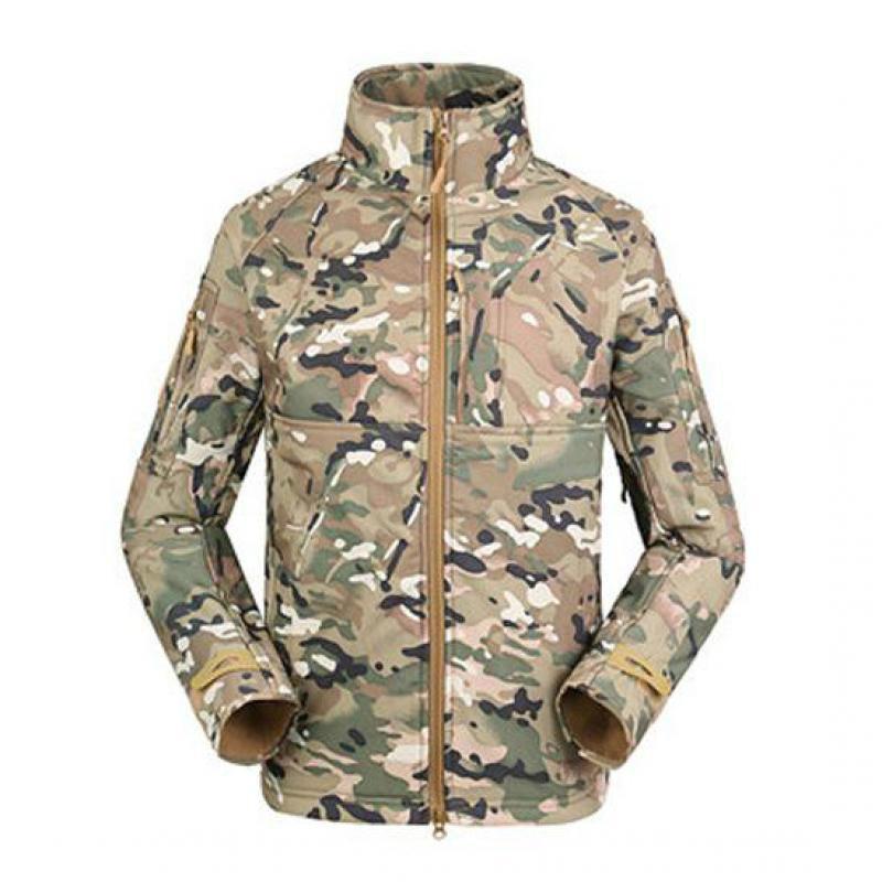 Automne militaire uniforme vêtements Camouflage polaire armée tactique vêtements Multicam mâle coupe-vent vêtements d'extérieur polaire doublure manteau