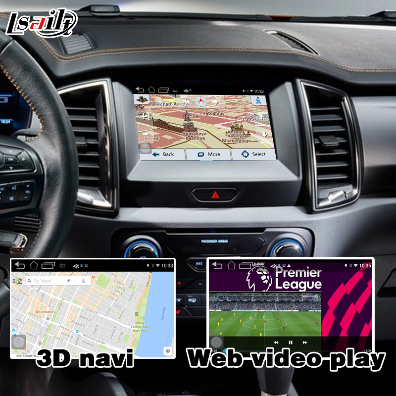 Android navigation box for Ford Everest Ranger etc video interface