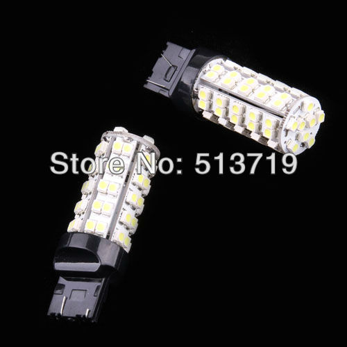 Dongzhen 2X T20 68 LED 7443 auto car led bulbs Wedge Car Brake Bulb Light xenon White Interior Packing Car Styling