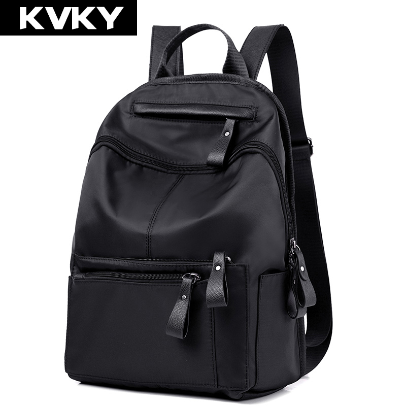 KVKY Fashion Women Backpacks Waterproof nylon School Bag Female Casual Travel Shoulder Bags Mochila for Teenagers Girls Rucksack 2017 new women leather backpacks students school bags for girls teenagers travel rucksack mochila candy color small shoulder bag