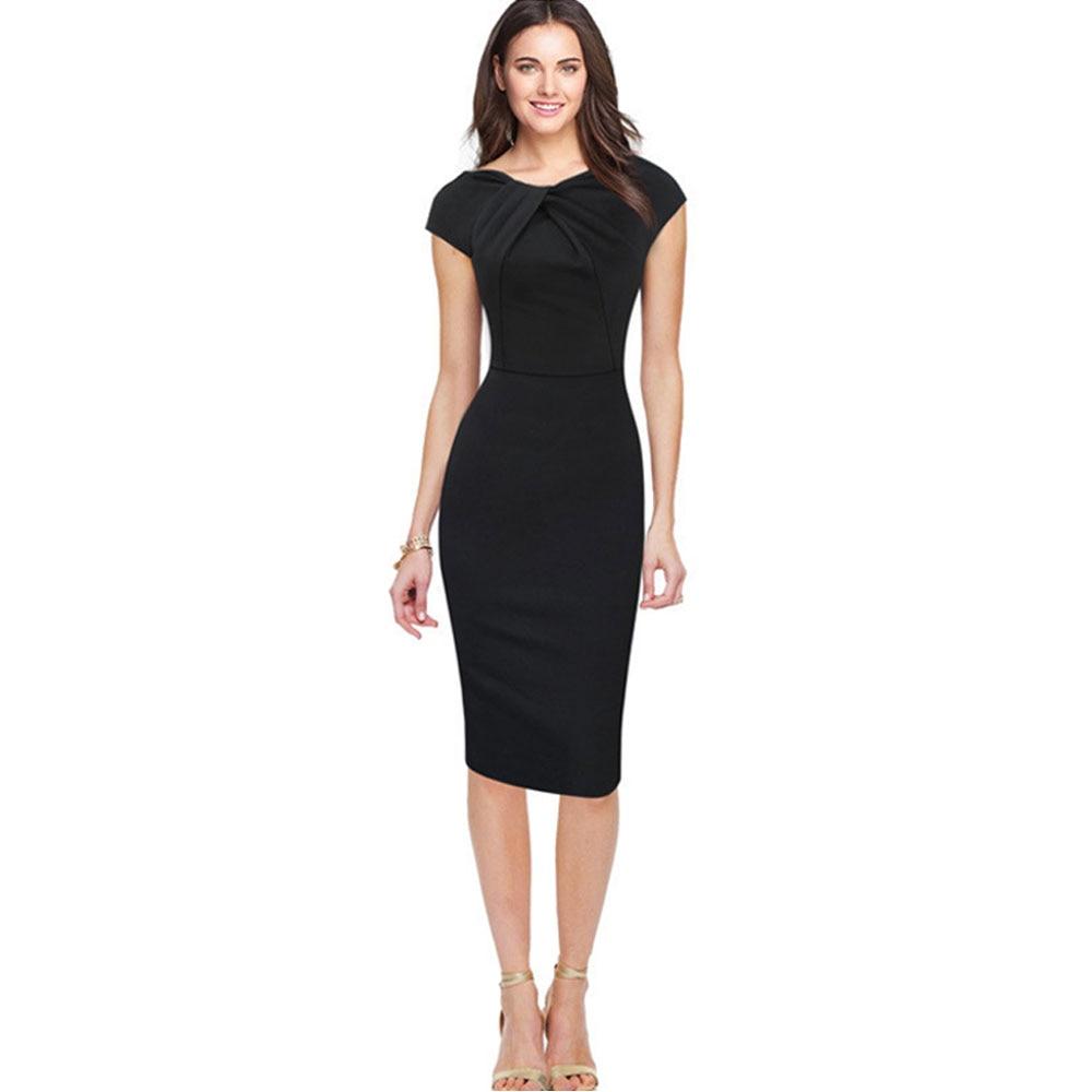 New European Style Stylish Dresses Summer Short Sleeve Dress Office Career OL Dress Casual Slim Party Dress  short dresses office wear