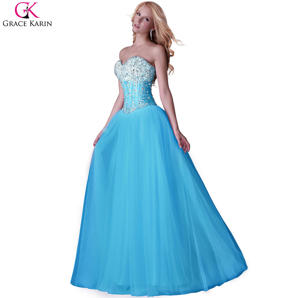 Real Photo Pink Tulle Prom Dresses Long 2017 Grace Karin Sexy ...