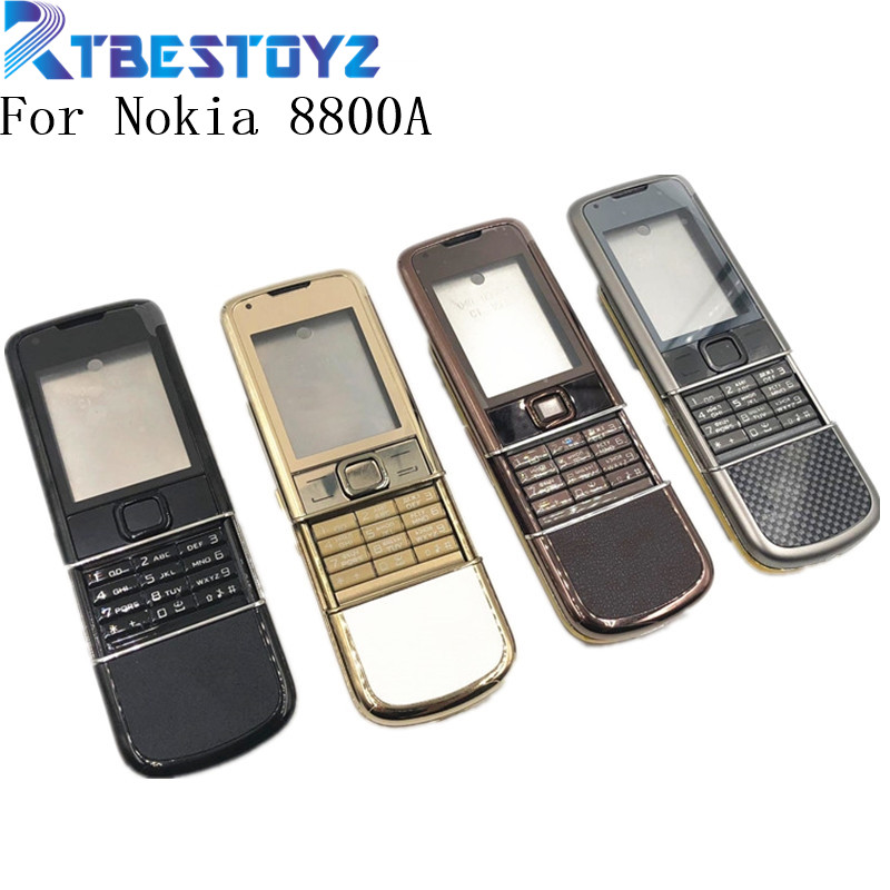 RTBESTOYZ Rear 8800A Full Housing For Nokia 8800 Arte 8800a Front Middle Frame Battery Back Cover Case