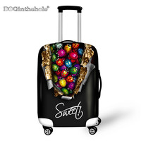 DOGINTHEHOLE Delicious Chocolate Thick Elastic Luggage Protective Cover Travel Accessories Supplies Protective Case Trunk Cover