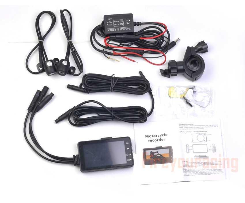 Motos HD Dual Camera DVR Cam Traço com Especial Dual-track Dianteiro Traseiro Do Motor Gravador de Eletrônica De Moto Moto À Prova D' Água