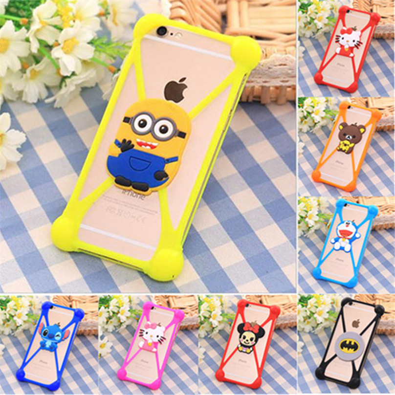 Universal Soft Silicone Cartoon Case Cover For Prestigio 3400 3530 5455 3450 4055 5450 5454 Duo Pap 7500 Coque