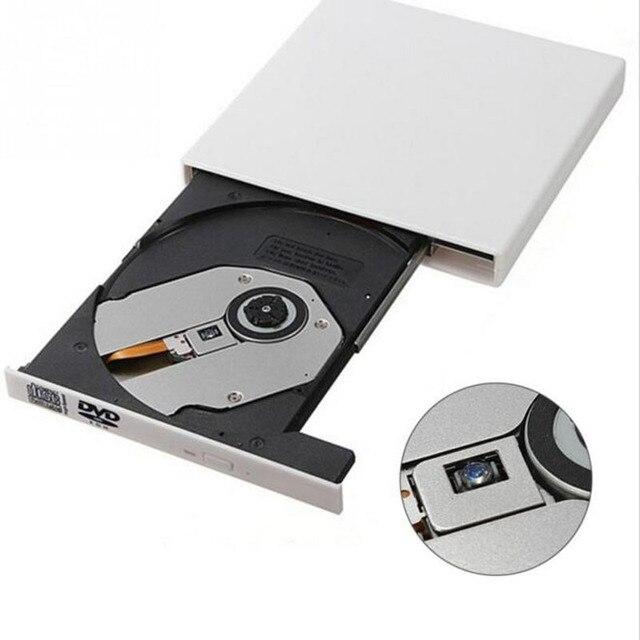 Портативный CD RW Burner Writer USB 2.0 Внешний Dvd-привод Combo Читатель Dvd-плеер РУМ для Портативных Компьютеров pc, Windows7/8 Белый