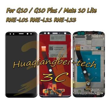 Lcd Touch Screen Digitizer Vergadering + Frame Voor Huawei G10/G10 Plus/Mate 10 Lite RNE-L01/ l02/L03/L21/L22/L23