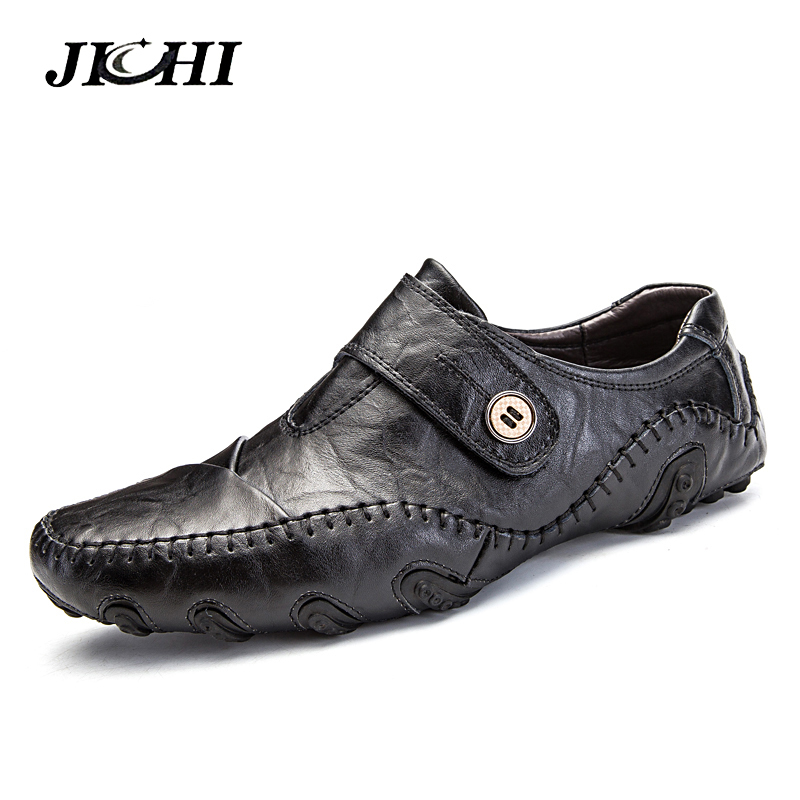 Casual Shoes Men Loafers Genuine Leather Flat Slip On Quality Designer Shoes Brand New Men Moccasins Sneaker Footwear Big Size 38 44 luxury brand designer sneaker men loafers moccasins genuine leather casual shoes male footwear