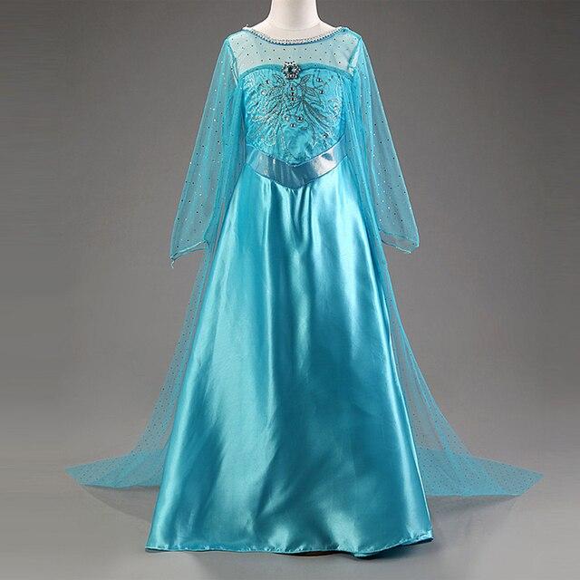 fbf548236019f Girl Dress Kids Anna Elsa Costumes Dresses for Girls The Snow Queen  Christmas Toddler Children's Princess