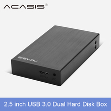 Acasis USB 3 0 2 5 Dual Hard Drive Disk Raid Enclosure Support two 5TB HDD
