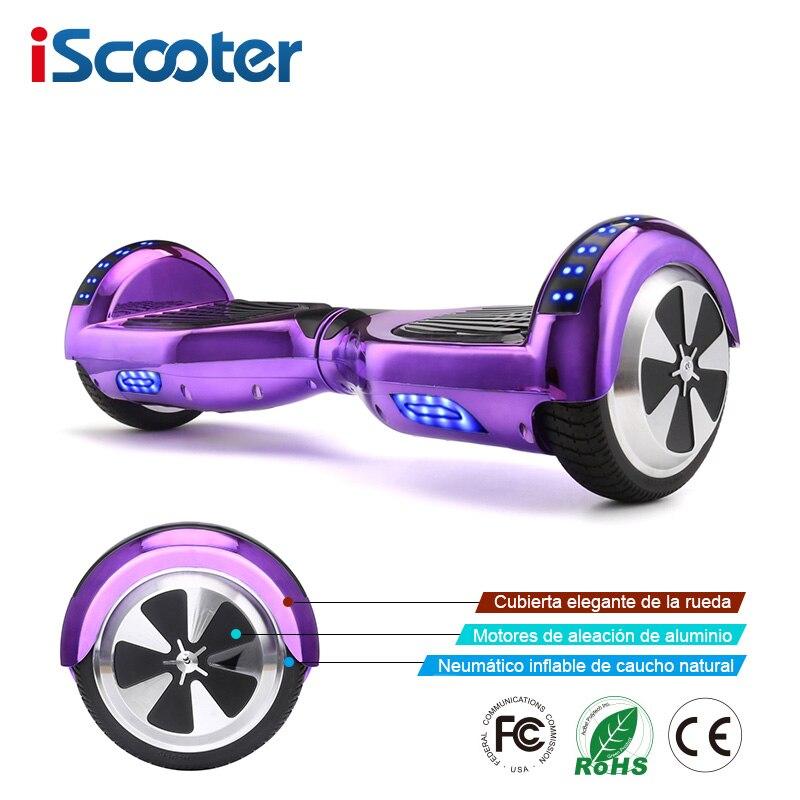 IScooter los Hoverboards auto equilibrio Scooter Eléctrico monopatín eléctrico Hoverboard 6,5 pulgadas dos ruedas Hover de la Junta