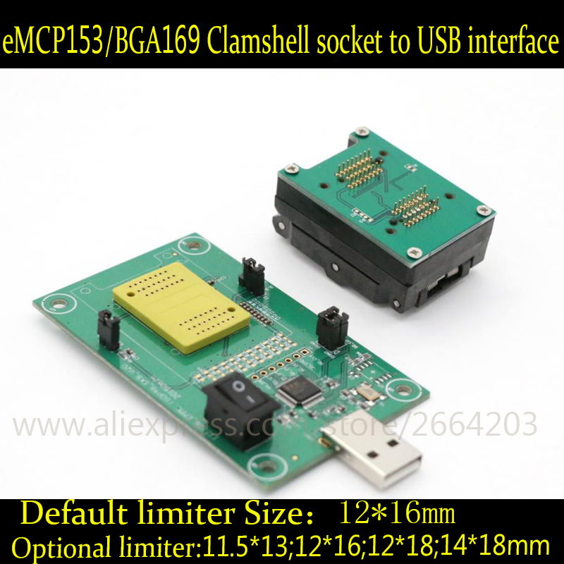 все цены на eMMC Programmer seat belt test burn in test board emmc169 153 socket adapter reader chip Development Board онлайн