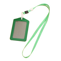 5x10 Pcs PU Poche En Cuir ID Carte Pass Badge Porteurs Case Avec Lanière tour de Cou, Vertical