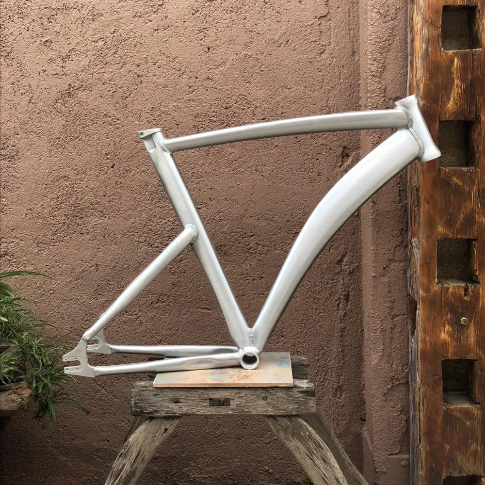 Fixed Gear Bike Frame  58cm RAW Bike Frame Fixie  Bicycle Frame Aluminum Alloy Frame