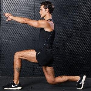 Image 4 - Mens Sport Running Shorts Training Oefening Jogging Korte Broek 2 In 1 Marathon Shorts Man Korte Sport Korte Deportivo Hombre