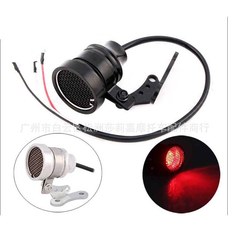 top quality grid motorbike rear indicator prince cruise chopper motorcycle tail light for harley LED moto warning signal light