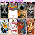 Cool skull minions soft tpu de goma cajas del teléfono para micromax lienzo De Jugo 2 AQ5001 AQ5001 AQ 5001 Tapa de La Carcasa de silicona