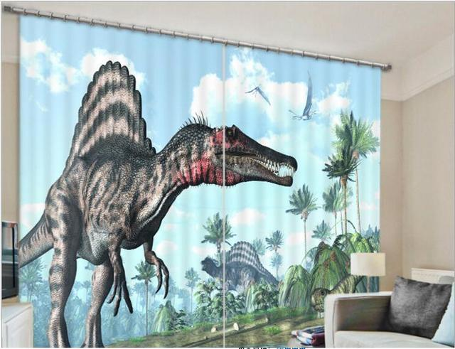 2017 Tiger Dinosaur Blackout Window Drapes Luxury 3D Curtains For Living Room Bed Office Hotel