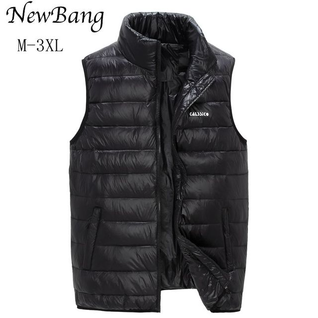 2016 Brand Vests For Men Ultra Light Duck Down Warm Vest Sleeveless Jacket Gilet Men's Waistcoat