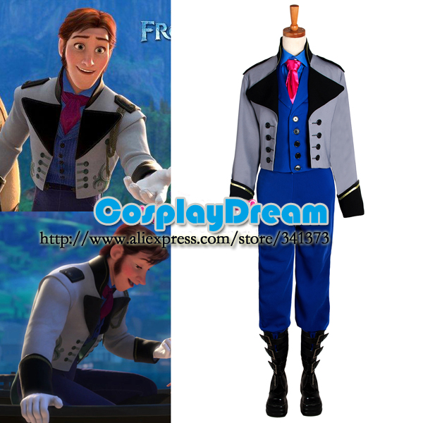 Hans Outfit Movie Costume Cosplay for Birthday Party Man Halloween Costumes Elsa Hans Prince Suit Custom Made