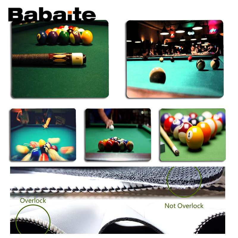 Babaite Vintage Cool Pool Billard gamer play mats Mousepad Size for 18x22cm 25x29cm Rubber Mousemats