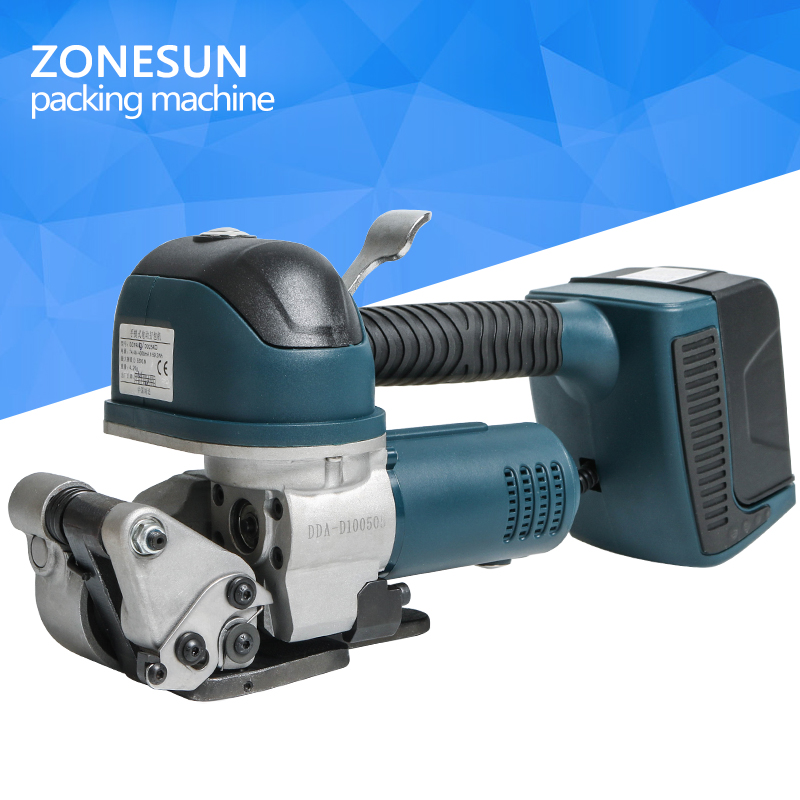 ZONESUN DD19 Heavy Duty Battery Strapping Tool for PET & PP Strapping 3/4''-1.0'' plastic steel strip for packaging. metal strapping banding tool clamp equipment to pipe bundle up steel cable tie process machinery steel works packaging