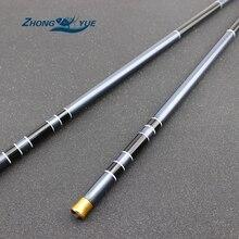 3.6M-7.2M Carbon Fiber Telescopic Fishing Rod Super Hard Ultra Light Carp Fishing Pole Stream Fishing Rod Hooks Set