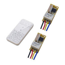 Button Wireless Switch Circuit Remote Control Switch DC3.5V- 12V RF Mini Transmitter and Receiver Momentary Toggle NC NO COM