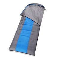 220x75cm Outdoor Camping Hiking Sleeping Bag Ultralight Cotton Winter Autumn Envelope Hooded Can Be Stitched Sleeping Bags