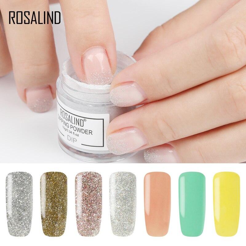 364 Rosalind 10g Polvo De Inmersión De Uñas Color Natural Holográfico Brillo Polvo Arte De Uñas No Necesita Lámpara Cura Gel Barniz In Brillantina