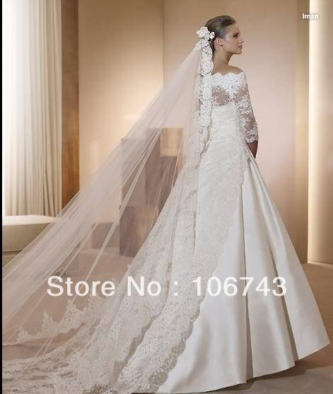 free shipping 2016 new style Sexy bride wedding Custom size princess lace with jacket wedding dress in Wedding Dresses from Weddings Events