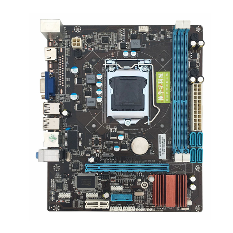 Newest 215*170mm H61 Motherboard LGA 1155 2xDDR3 16GB Computer Motherboard Mainboard For Inter Core 2 3 Support VGA HDMI colorful c h61u v27 quad core computer i small colorful h61 motherboard