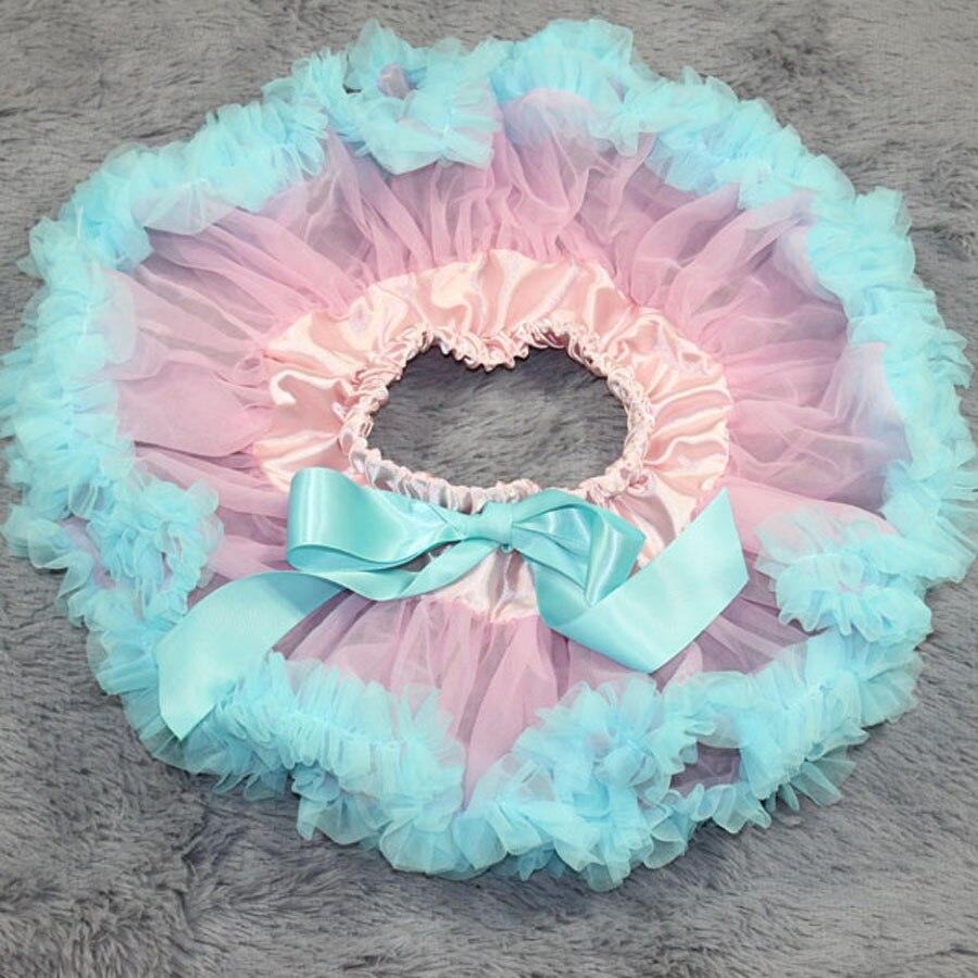 Детские юбки-пачки розовый шифон новорожденных юбка туту юбка новорожденных фотографии юбка-пачка - Цвет: Небесно-голубой