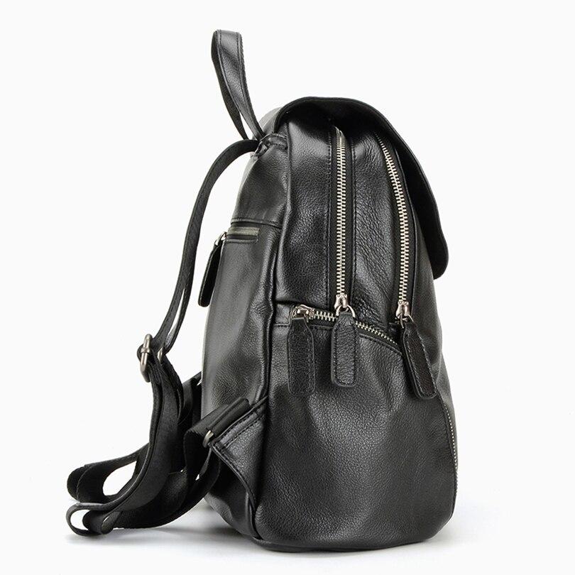 Réel Bedo Hommes Zipper Black Polyester Simple Véritable En Sacs À Mode Sac Bleu Dos Cuir De Doublure Noir Sd4drR