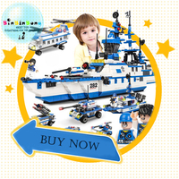 Compatible Legoings lepined Aircraft Carrier Swat Army Police Helicopter Car Building Blocks City Figures Toys for Children