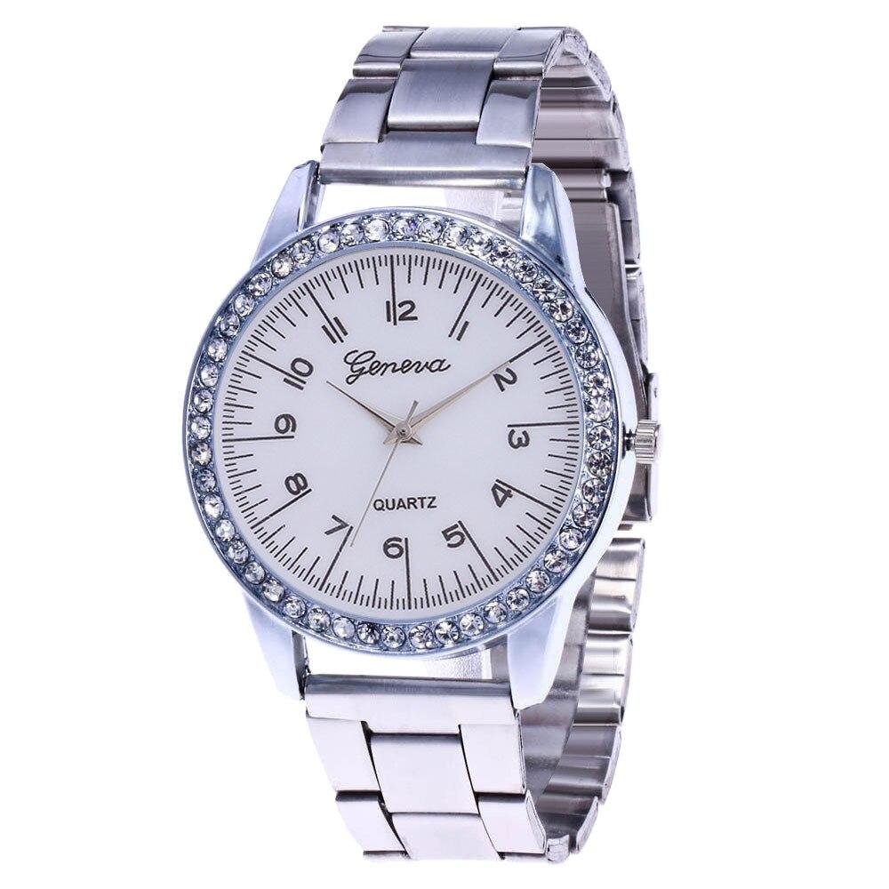 Women Fashion Stainless Steel Band Analog Quartz Round Wrist Watch Watches women watches relojes para mujer montre femme