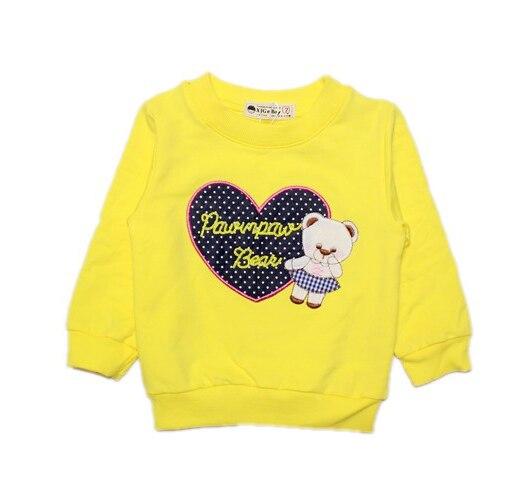 Весна осень свитер с красочные BearPrinting толстовки с длинным рукавом дети свободного покроя розовый белый пиджак