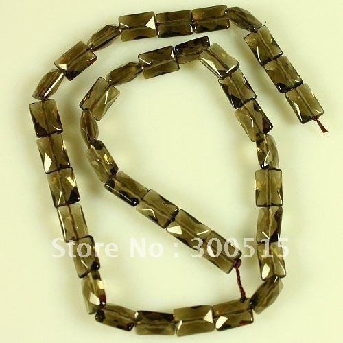 K54626 Faceted Smoky quartz loose beads 38pcs