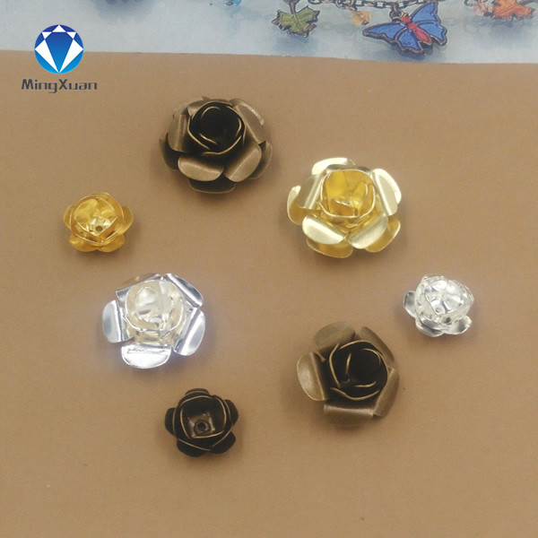 MINGXUAN 20pcs/lot 11/15/18mm Flower Beads Cap Retro Silver Sculpture Leaf  Beads Cap Diy Jewelry Accessories Jewerly Findings