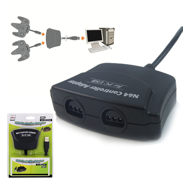 Mayflash Porta Para Nintend 2 N64 Gamepad Joypad Controlador Adaptador para PC Windows Mac