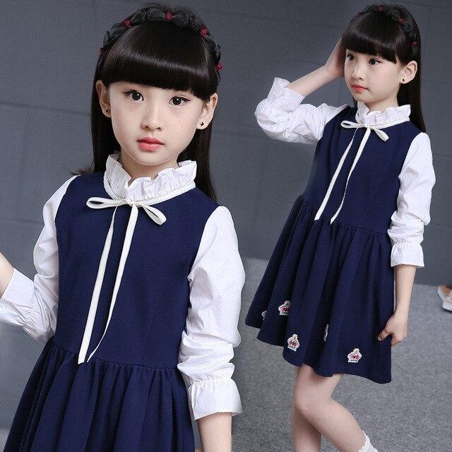 Kinder kleidung für Mädchen Prinzessin Kleider rosa marineblau 4 ...