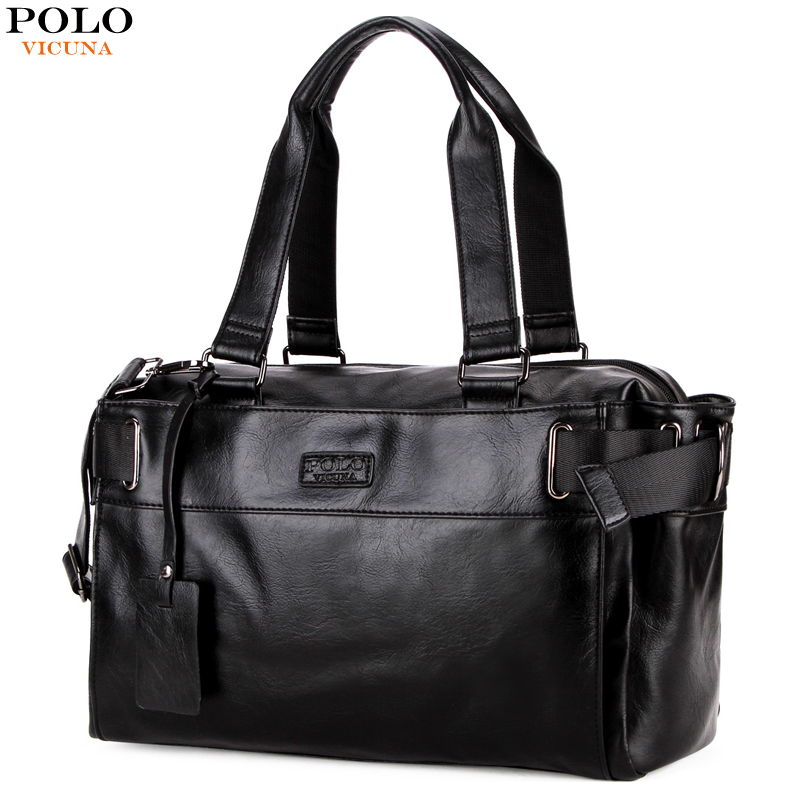 все цены на VICUNA POLO Leather Men Travel Handbag Large Capacity Travel Duffle Casual High Quality Men's Business Luggage Shoulder Bags онлайн