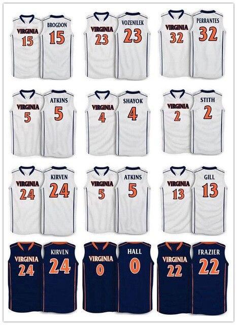 separation shoes 47a6b e2e81 Virginia College Basketball Jersey #15 Malcolm Brogdon #23 ...